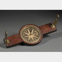 Thaxter Walnut and Brass Surveying Compass