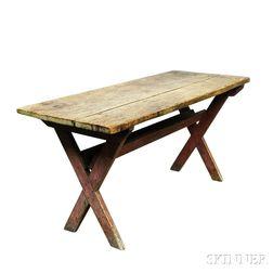 Small Pine Sawbuck Table