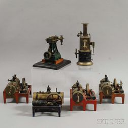 Five Miniature Steam Engines and a Vertical Stationary Engine