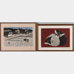Four Color Woodblock Prints