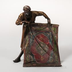 Austrian Cold-painted Bronze Figure of a Carpet Seller