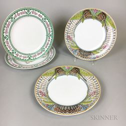 Four Minton Earthenware Plates