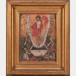 Greek Icon Depicting the Resurrection
