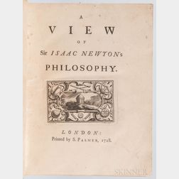 Pemberton, Henry (1694-1771) A View of Sir Isaac Newton's Philosophy.