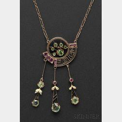 14kt Rose Gold and Demantoid Garnet Pendant Necklace