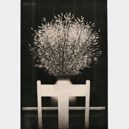 Robert Kipniss (American, b. 1931)      Still Life with Dark Window