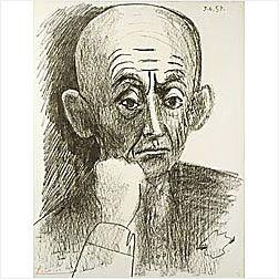 Pablo Picasso (Spanish, 1881-1973)  Portrait of D.H. Kahnweiler II