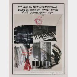 Robert Rauschenberg (American, 1925-2008)      8th Van Cliburn International Piano Competition, May 27-June 11, Fort Worth, Texas-1989