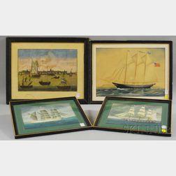 Four Framed Marine Works