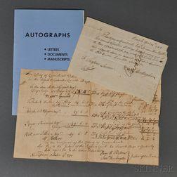 Huntington, Samuel (1731-1796) Two Documents.