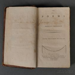 Freneau, Philip (1752-1832)    The Poems of Philip Freneau Written Chiefly During the Late War