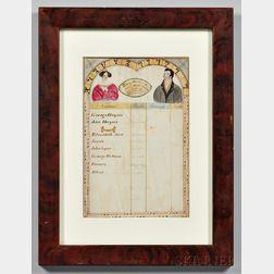 Watercolor Haynes Family Record