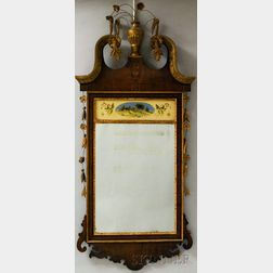 Federal-style Inlaid Mahogany Mirror