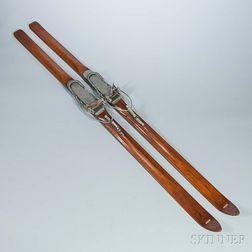 Pair of Vintage Wooden Skis
