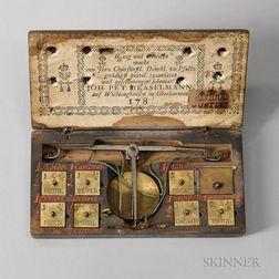 18th Century Cased Coin Balance
