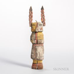 Hopi Polychrome Carved Wood Katsina Doll