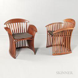 Pair of Thomas Lamb Bentwood Steamer Chairs