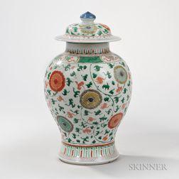 Wucai Enameled Covered Jar