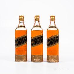 Johnnie Walker Black Label 12 Years Old, 3 4/5 quart bottles