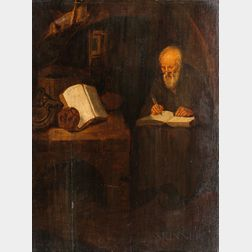 Dutch School, 19th Century      St. Jerome in His Study