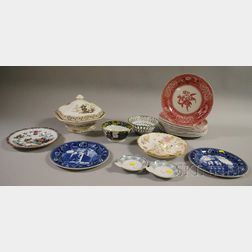 Group of Decorated Ceramic Plates and Tableware