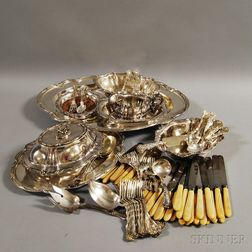 Group of Mostly Silver-plated Tableware
