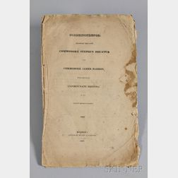 [Decatur, Stephen and James Barron],   Correspondence Between the Late Commodore Stephen Decater and Commodore James Barron
