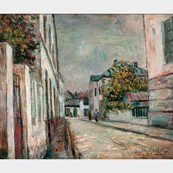Shimon Okshteyn (Ukrainian/American, b. 1951)    Village Scene