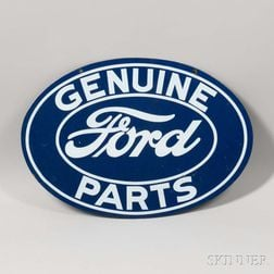 Genuine Ford Parts Double-sided Enameled Sign