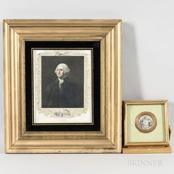 Two Framed George Washington Pieces
