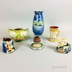 Six Mostly Aller Vale and Torquay Pottery Items