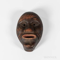 Small Northeast Carved Wood Mask