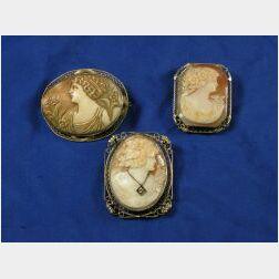 Three Shell Cameos