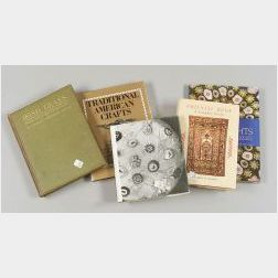 Group of Collectors Books Related to Clocks, Decoys, Oriental Rugs, Americana, and Glass.