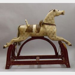 Painted Wood Gliding Horse