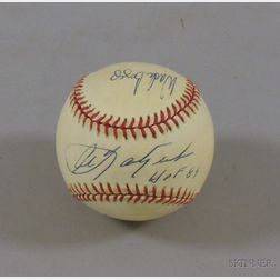 Carl Yastrzemski, Wade Boggs, and Roger Clemens Autographed Baseball