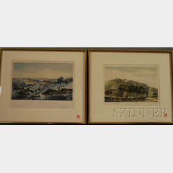 Four Framed Lithograph American Views
