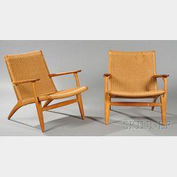 Pair of Hans Wegner (1914-2007) Lounge Chairs