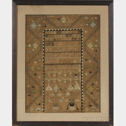 Large Needlework Sampler;