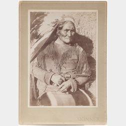 Cabinet Card Photo of Geronimo