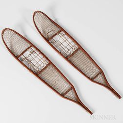 Pair of Small Athabascan Snowshoes