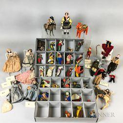 Set of Painted Wood Alice in Wonderland Talfourd Toys.     Estimate $1,500-2,500