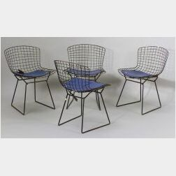 Four Bertoia Side Chairs