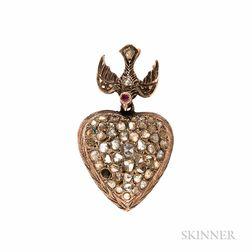 Antique Rose-cut Diamond Pendant