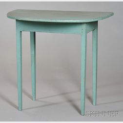 Federal Painted Demilune Console Table