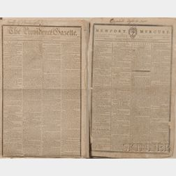 Washington, George (1732-1799) Newspaper Announcements of his Death.