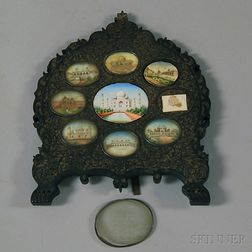 Framed Group of Indian Ivory Miniatures