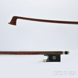 German Nickel Silver-mounted 3/4-size Violin Bow