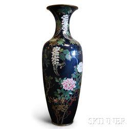 Monumental Cloisonne Vase