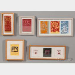 Aaron Fink (American, b. 1955)    Five Sets of Seasonal Greeting Cards